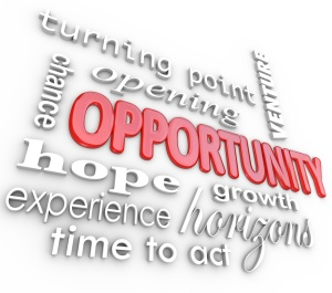 Opportunity Words Experience Chance for New Opening