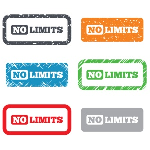 No limit sign icon. Unlimited symbol