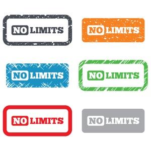 No limit sign icon. Unlimited symbol