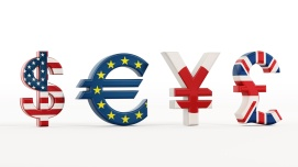 Currency symbols with country flags