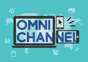 Omni channel marketing strategy shopping online conceptual illustration vector